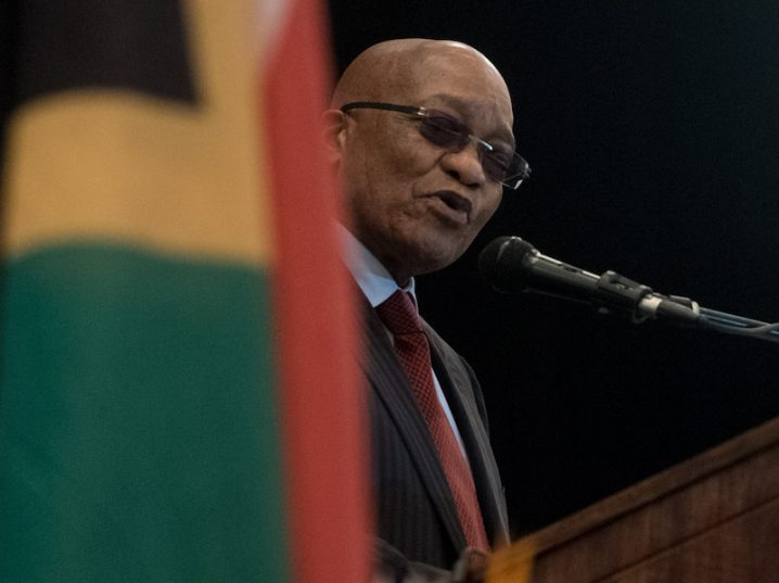 President Jacob Zuma speaks at the traditional leaders indaba at the Birchwood Hotel in Boksburg on 29 May 2017. The indaba allows a platform for stakeholders to discuss issues and the roles of traditional leaders in society and policy. Picture: Yeshiel Panchia