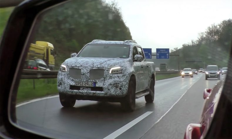 Upcoming Mercedes-Benz Bakkie spotted testing in traffic. Picture: Supplied