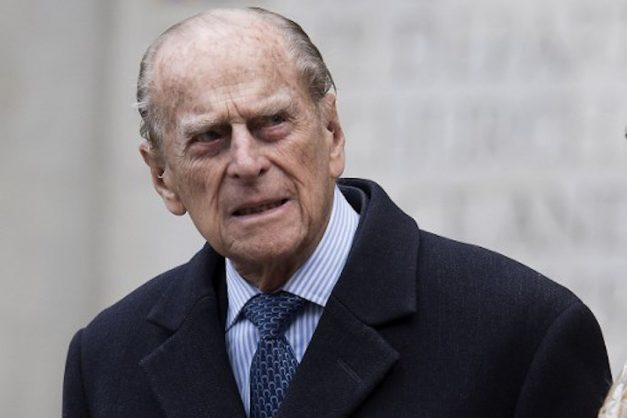 (FILES) This file photo taken on November 24, 2016 shows Britain's Prince Philip, Duke of Edinburgh leaves Westminster Abbey in central London on November 24, 2016, after attending a Service of Thanksgiving to celebrate 60 years of The Duke of Edinburgh's Award.  Prince Philip, the 96-year-old husband of Queen Elizabeth II, has been admitted to hospital as a