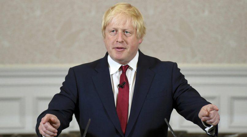 British foreign minister Boris Johnson