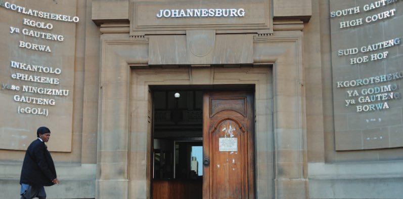 South Gauteng High Court in Johannesburg. FILE PIC Picture: Nigel Sibanda.