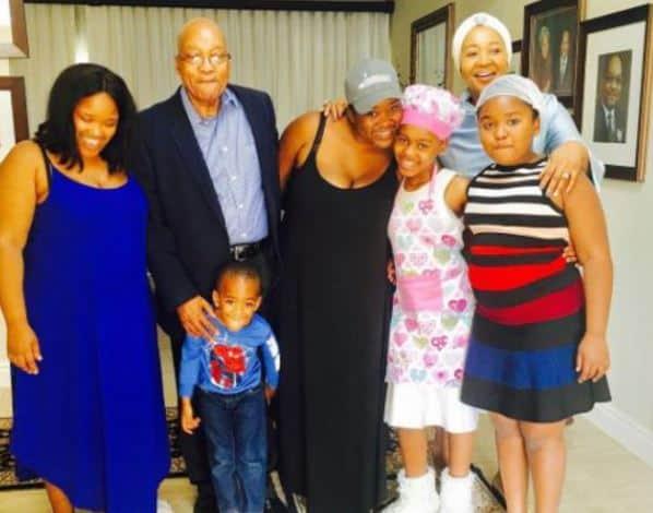 President Jacob Zuma and his family celebrate Father's Day. Picture: Instagram via @firstladytzuma.
