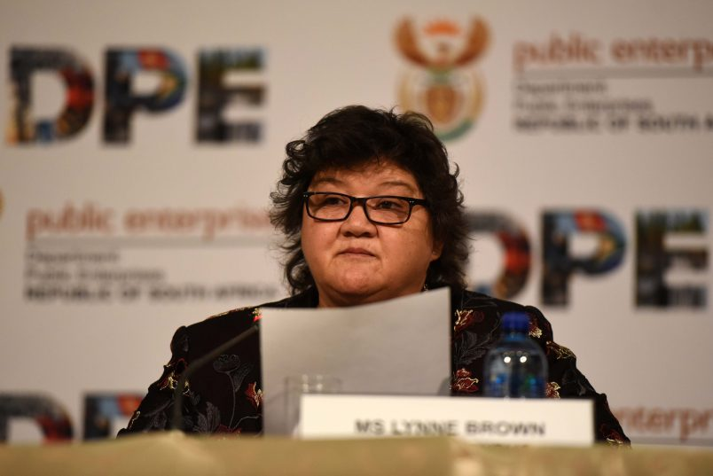 Minister of Public Enterprises, Lynne Brown during a media briefing held at Megawatt Park, Eskoms head office in Sunninghill, 23 June 2017.Picture: Neil McCartney
