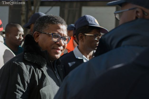 Cops must improve skills, including shooting, says Mbalula