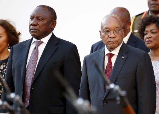 Deputy President Cyril Ramaphosa and President Jacob Zuma