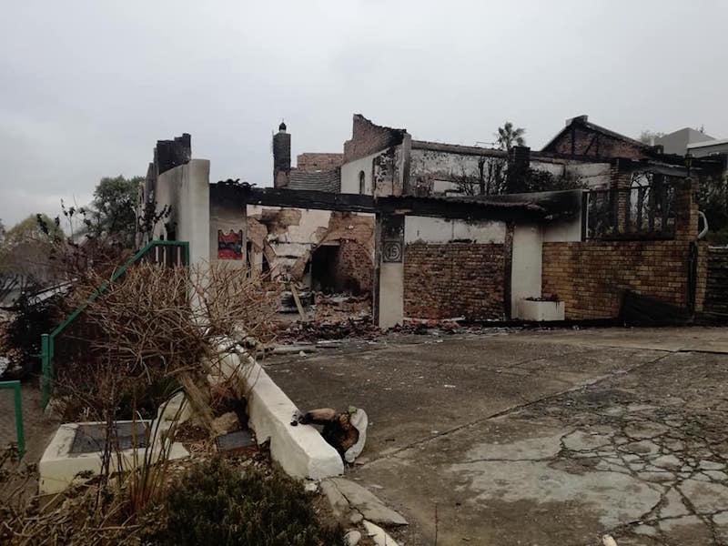 The damage in Knysna. Picture: Hannes Visser