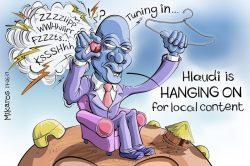 Ghost cartoon: Hlaudi just keeps hangin' around
