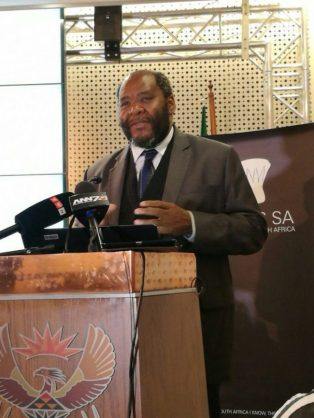 Statistician General Pali Lehohla presented the financial census of municipalities for the year ended June 2016. The results showed that the municipalities collected R27 billion more compared to 2015. PHOTO: ANA Reporter