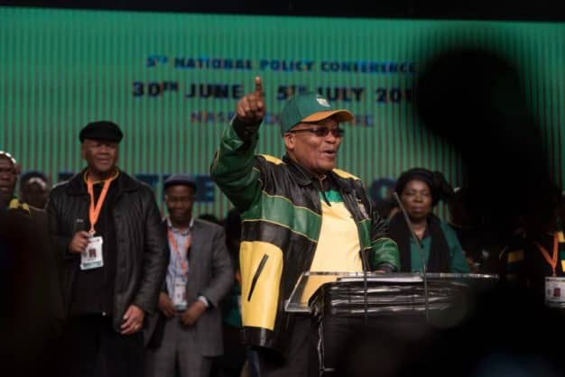 President Jacob Zuma delivers the opening address of the ANC's 5th national policy conference at Nasrec, Johannesburg. Picture: Yeshiel Panchia