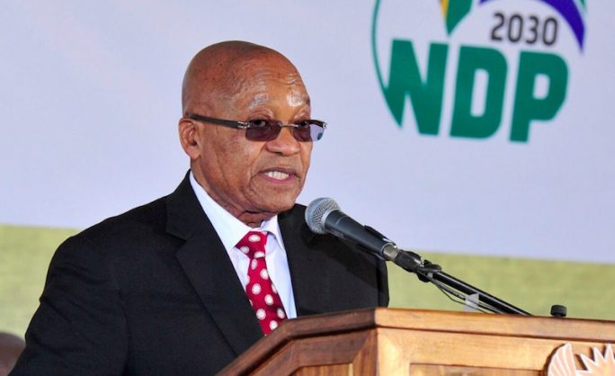 @GovernmentZA tweeted this photo of President Jacob Zuma at the at the National Youth Day Commemoration in Ventersdorp on Friday. Picture: @GovernmentZA on Twitter
