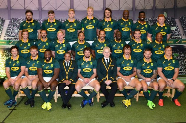The Boks will wear the MTN logo on their jerseys. Photo: Lee Warren/Gallo Images.