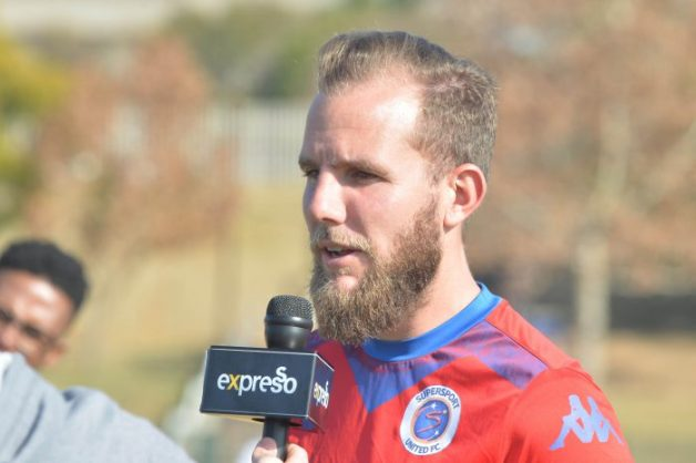 Jeremy Brockie during the SuperSport United media open day at Megawatt Park. (Photo by Lefty Shivambu/Gallo Images)