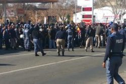 Benoni fire station closed following damageduring protest