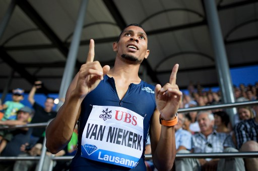 Based on form and class, Wayde van Niekerk is guaranteed a medal in the World Championships. Photo: Fabrice Coffrini/AFP.