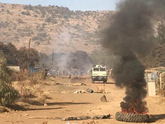 Gomorrah informal settlement in Pretoria burns during protest