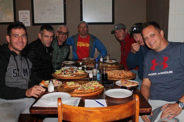From left: Adrian Saffy, Alex Harris, Erik Vermeulen (film crew), Charlie Brits (film crew driver), Grant Atkinson (film crew), Sean Disney and Tian Liebenberg. Picture: Blake Linder