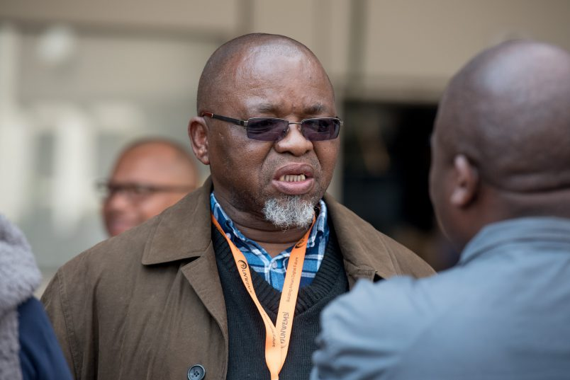 Secretary General of the ANC Gwede Mantashe speaks to media at the annual ANC National Policy Conference at Nasrec on 3 July 2017. The conference proceeded this week. Picture: Yeshiel Panchia