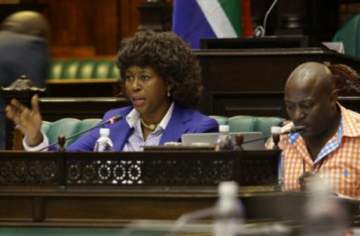Makhosi Khoza asks questions during the Public protector interviews on August 11, 2016 in Cape Town, (Photo by Gallo Images / The Times / Ruvan Boshoff)