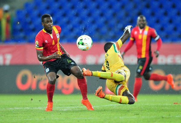 Moussa Marega of Mali challenged by Murushid Juuko of Uganda (Samuel Shivambu/BackpagePix)