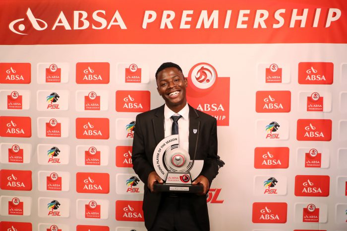 Absa Premiership Young Player of the Season, Phakamani Mahlambi of Bidvest Wits during the 2016/17 PSL Awards at the Sandton Convention Centre. (Muzi Ntombela/BackpagePix)