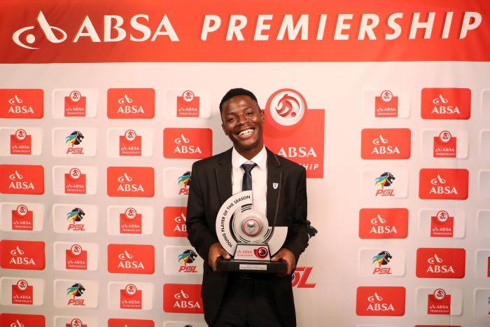 Absa Premiership Young Player of the Season, Phakamani Mahlambi of Bidvest Wits during the 2016/17 PSL Awards at the Sandton Convention Centre. (Muzi Ntombela/BackpagePix)