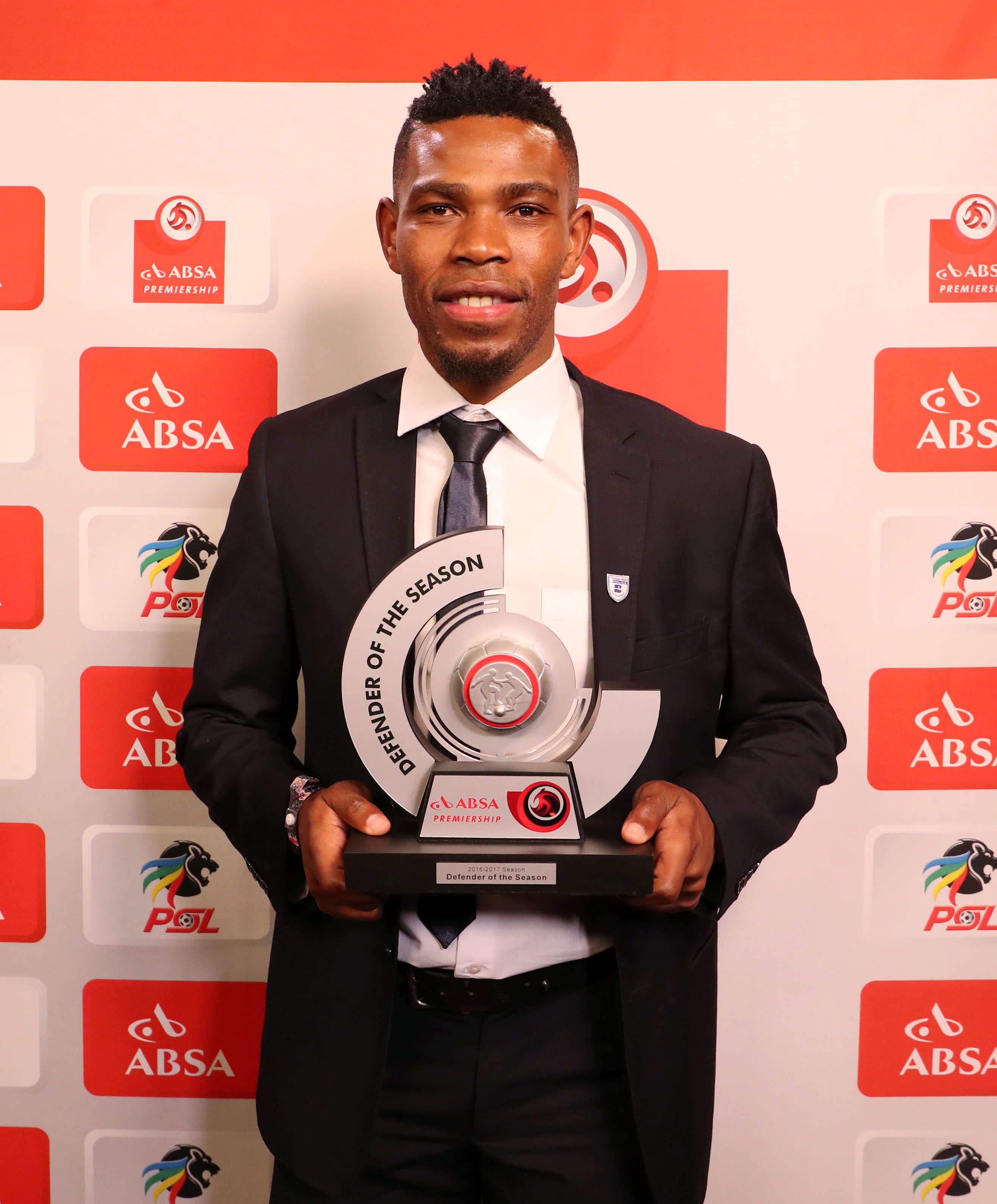 Absa Premiership Defender of the Season, Thulani Hlatshwayo of Bidvest Wits during the 2016/17 PSL Awards at the Sandton Convention Centre, Johannesburg South Africa on 10 July 2017 ©Muzi Ntombela/BackpagePix