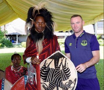 Wayne Rooney is a massive hit in Tanzania!