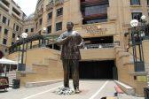 EFF student leader drops dead rats at Mandela statue