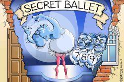 Ghost cartoon: Zuma's 'secret ballet'