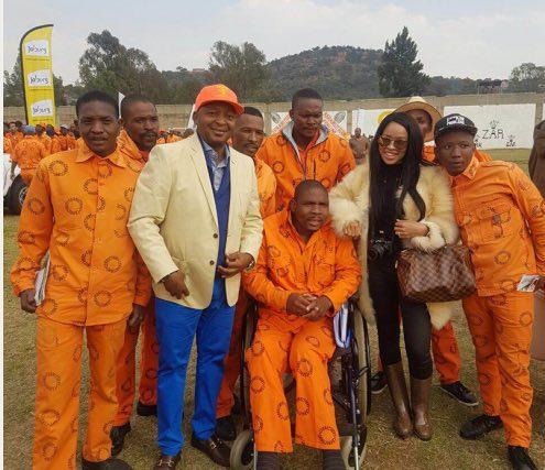 Kunene, wife Nkuli and a group of prisoners.