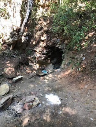 Illegal mining. Zama zamas access underground mines illegally in Johannesburg.