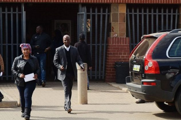 Marks Maponyane outside Tembisa Magistrate's Court. Gallo Images.