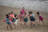Shellfish, fire and Party praise: beach breaks, North Korea style