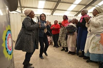 City of Cape Town mayor Patricia de Lille and city and Eskom officials shared in the joy of close to 800 families in the Klipheuwel informal settlement when electricity to the community was officially switched on on Friday. Photo: CoCT