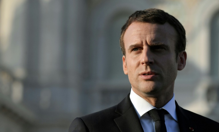 """In a statement, Macron voiced his """"concern at the ballistic and nuclear threat coming from North Korea"""""""