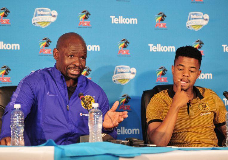Steve Komphela, coach of Kaizer Chiefs and George Lebese. (Samuel Shivambu/Backpagepix)