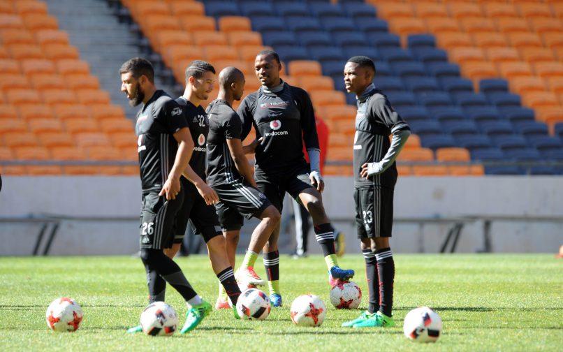 Orlando Pirates players  during training (Sydney Mahlangu /BackpagePix)