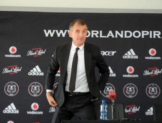 Milutin Sredejovic new Orlando Pirates coach (Sydney Mahlangu /BackpagePix)