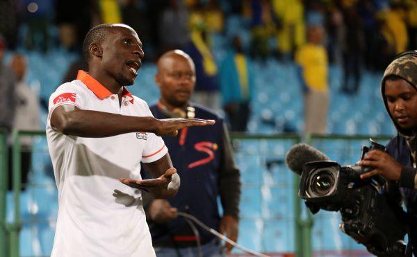 Rodney Ramagalela of Polokwane City celebrates goal during Absa Premiership match between Mamelodi Sundowns and Polokwane City at Loftus Versveld Stadium. (Muzi Ntombela/BackpagePix)
