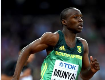 Teenage sensation Clarence Munyai's dreams in London were shattered by a lane violation. Photo:  Shaun Botterill/Getty Images.