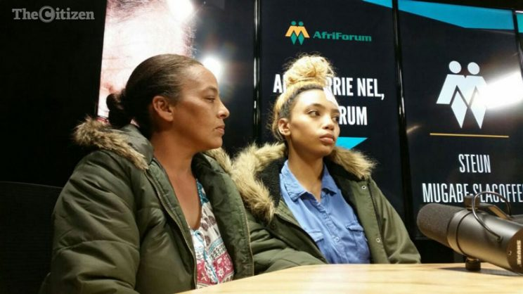 Gabriella Engels with her mother, Debbie Engels at a media briefing on Thursday, August 17, 2017. Picture: Jacques Nelles
