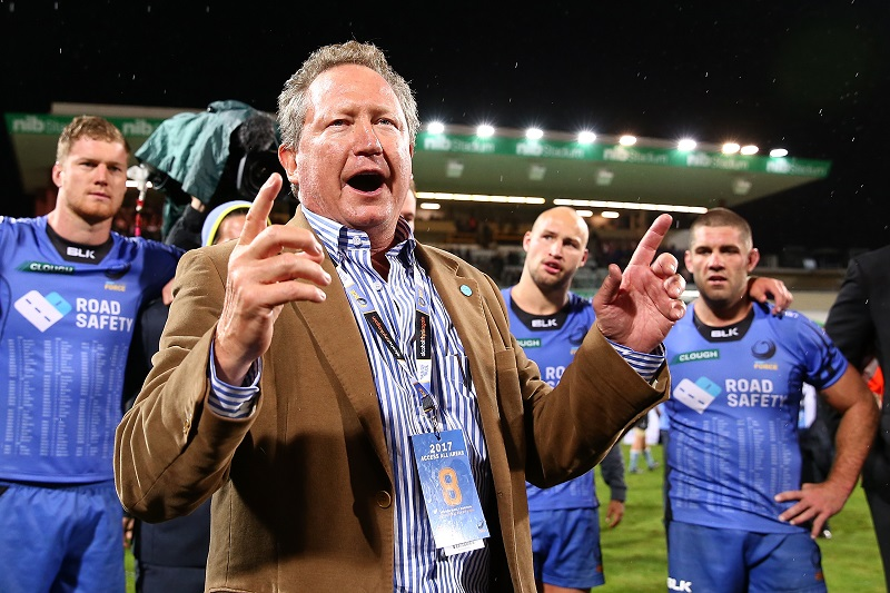 Mining billionaire Andrew Forrest is the Force's financial backer and certainly has put up a good fight.  Photo: Paul Kane/Getty Images.