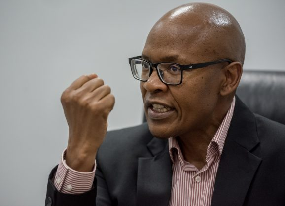 Jimmy Manyi speaks to a reporter from the Citizen at the ANN7 Offices in Midrand on 25 August 2017. Manyi has recently acquired ANN7 and The New Age newspaper through a R450 million vendor-financed deal. Picture: Yeshiel Panchia
