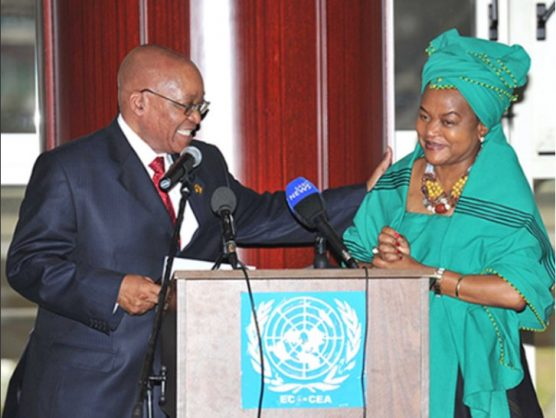 President Jacob Zuma with Parliament's Speaker Baleka Mbete. Picture: Flickr