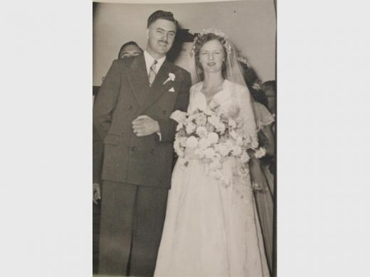 The couple on their wedding day on October 31, 1953.