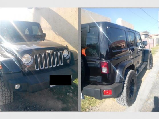 THE recovered Jeep Wrangler hijacked in Daveyton and used in an attempt to hijack a VW Golf 7 in Tembisa. Photograph: EMPD