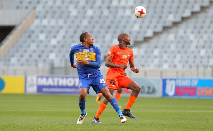 CAPE TOWN, SOUTH AFRICA - AUGUST 12: Lehlohonolo Majoro of Cape Town City during the MTN 8 Quarter Final between Cape Town City FC and Polokwane City at Cape Town Stadium on August 12, 2017 in Cape Town, South Africa. (Photo by Petri Oeschger/Gallo Images)