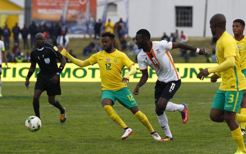Jabulani Shongwe of Bafana Bafana during the 1st Leg 3rd Round CHAN Qualifier between South Africa and Zambia at Buffalo City Stadium. (Photo by Michael Sheehan/Gallo Images)