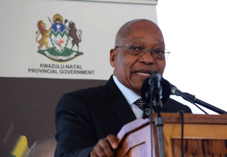 FILE PICTURE: President Jacob Zuma speaks at the unveiling of the statue of former SACP and ANC stalwart Harry Gwala. Picture: Twitter @PresidencyZA