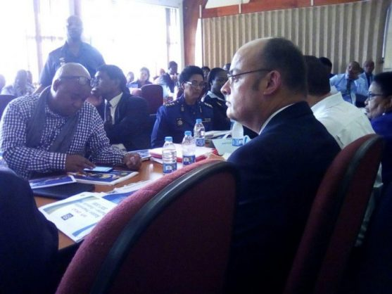 Chairman of the parliamentary oversight committee on policing, Francois Beukman, listens to presentations at the uMlazi Police Station on Thursday. PHOTO: ANA Reporter